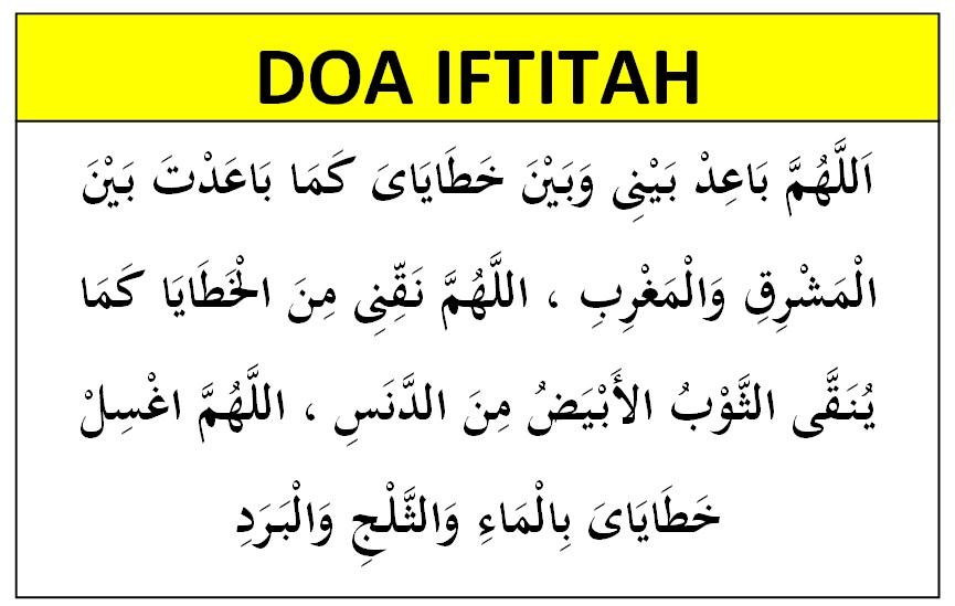Bacaan Doa Iftitah Yang Sunnah