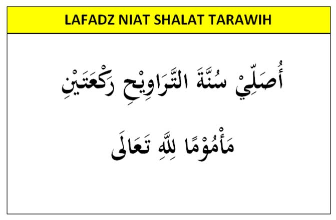 niat shalat tarawih