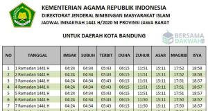 Jadwal imsakiyah Bandung