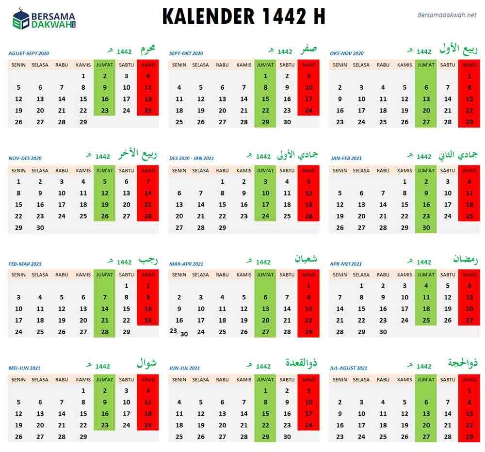 kalender 1442 hijriyah