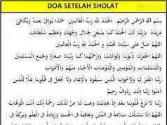 doa setelah sholat singkat